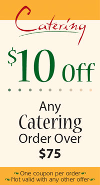 Coupon - $10 off any catering order